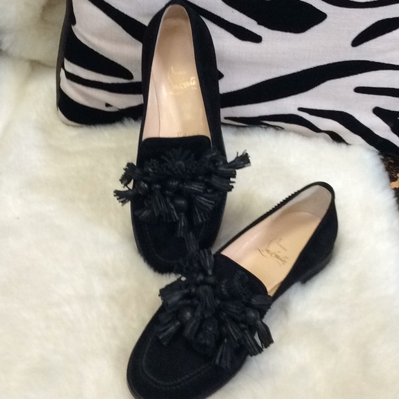 47c7429aa60 Christian Louboutin Shoes - Christian laboutin loafer in black suede